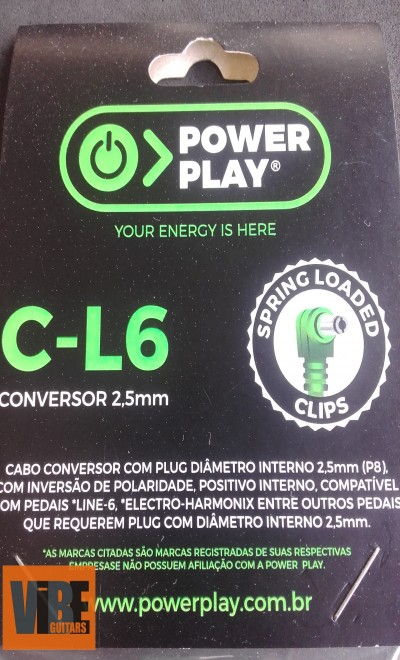 Power Play Cabo Conversor C-L6 (2,5mm)